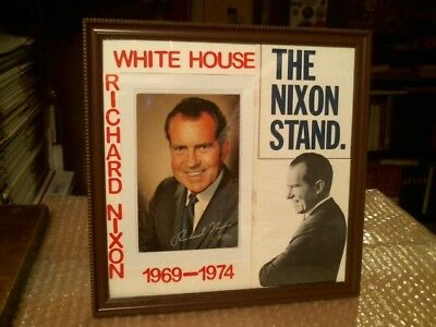 President Richard M. Nixon Original Vintage Postcard Campaign Brochure Display