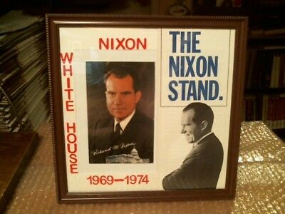 President Richard M. Nixon Original Vintage Postcard Campaign Brochure Display#2