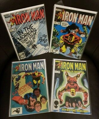 Iron Man #182 183 184 185 (1984) ALL HIGH GRADE SEE MY OTHER AUCTIONS ! 4 BOOKS