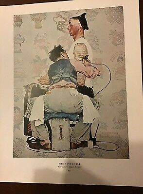 """The Tattooist"" By Norman Rockwell Dated March 4 1944 Print Tattoo"