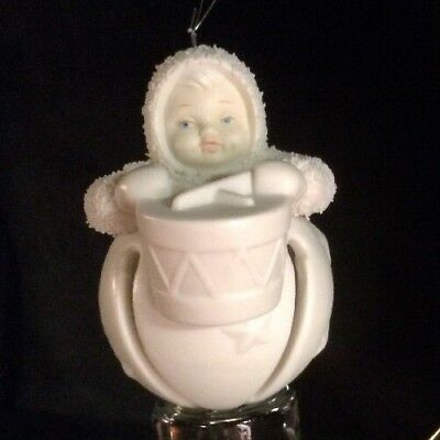 Vintage Dept 56 Little Drummer Jingle Baby, Snowbaby Ornament - A Retired Piece