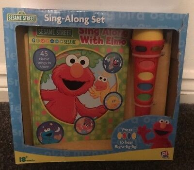 Sing Along with Elmo (Sesame Street). Light Up Microphone And Songbook BNIB