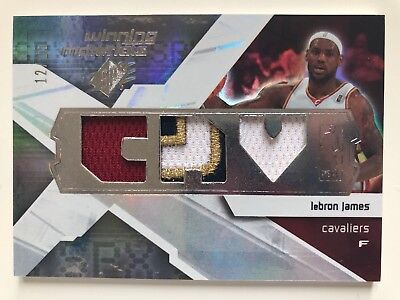 08-09 SPX Winning Materials LeBron James Jersey Prime Patch Card 12/25
