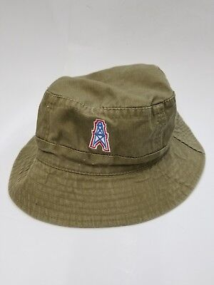 a0bc43f89 Vintage Nfl Houston Oilers Bucket Hat Adult Size Rare