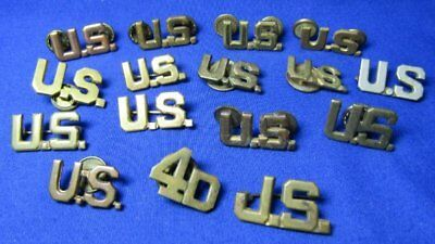 Pre-WWII 1920s to 1930s Army US, 4D & J.S. Officer Insignia Lot Of 16