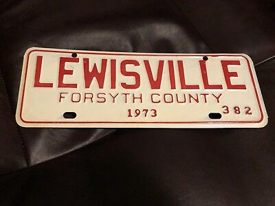 1973 Lewisville North Carolina City License Plate Topper Issue Front Tag , NC