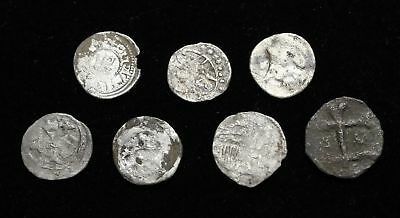 HUNGARY. Assorted lot of 7 Silver Hammered Denar, c. 1200-1300's