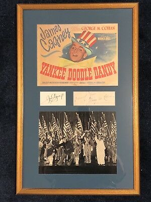 0435 Rare George M. Cohan James Cagney Signed Yankee Doodle Dandy Framed Display