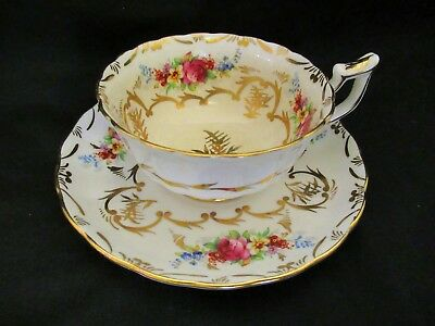 Royal Chelsea Cabinet Wide Cup Saucer Floral