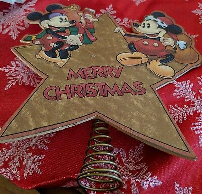 Mickey mouse Christmas star tree topper
