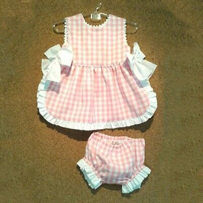 AU Newborn Infant Baby Girls Clothes Tops T-Shirt Shorts Plaids 2PCS Outfits Set