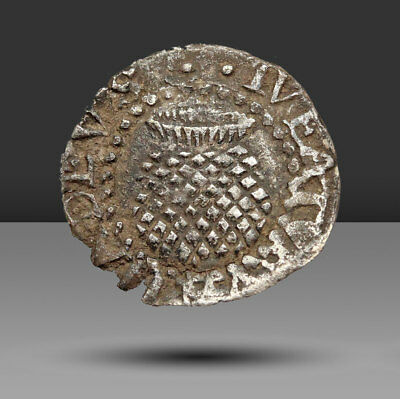 ENGLAND. James I Hammered Silver Penny, Rose and Thistle