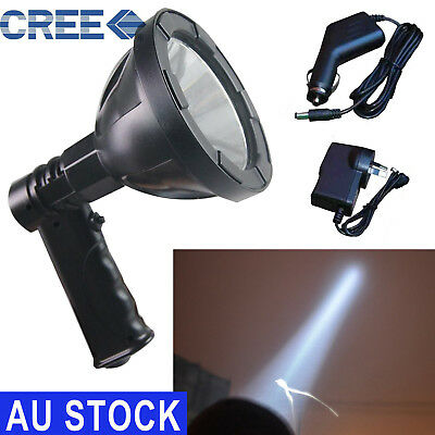 1800W CREE Handheld Spot Light Rechargeable LED Spotlight Hunting Shooting 12V
