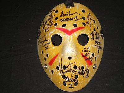 7X JASON VOORHEES Actors Cast Signed Hockey MASK Friday the 13th Kane Hodder +