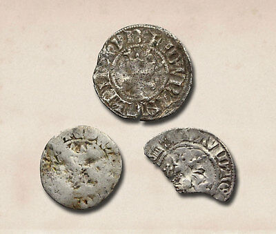 ENGLAND. Edward I and Alexander III (Scotland) Hammered Silver Penny, Lot of 3