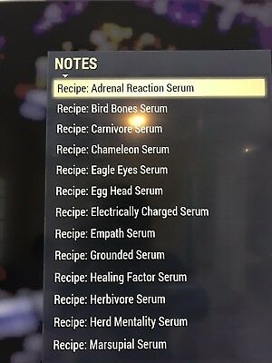 All 19 Serum Recipes, Fallout 76 [PC] in game item, mutations