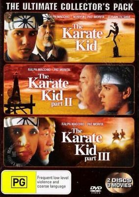 The Karate Kid 1 2 & 3 -  Ultimate Collector's Pack  - 3 Movies - 2 Disc Set