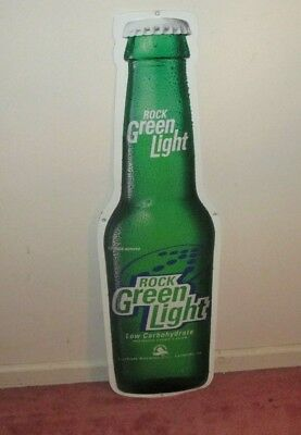 Rolling Rock Beer Green Light Metal Sign 36""