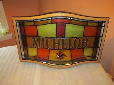 Michelob Beer SIGN faux stained glass Anheuser Busch (NICE SIGN)