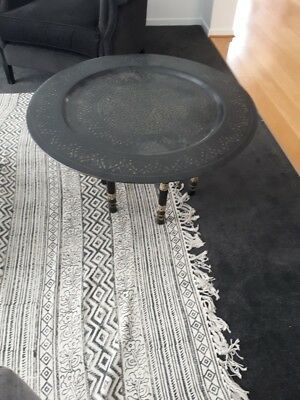Moroccan middle eastern serving table or tray