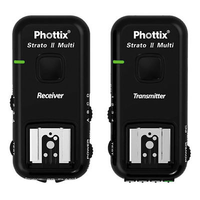 Phottix Strato II Multi 5-in-1 Trigger Set (TRANSMITTER/rECEIVER) for Canon