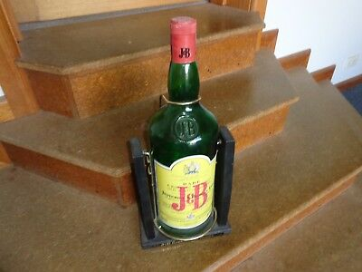 J & B Scotch Whiskey Large Display Bottle With Cradle