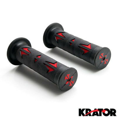 """New Pair (7/8"""" Inch) - Black And Red Set of Comfortable Rubber Gel Hand Grips"""