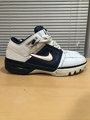 0a8ffe7a2c9 2004 VTG Nike Air Zoom Generation 1 Low Men s 11 Sneakers Olympic Lebron  James