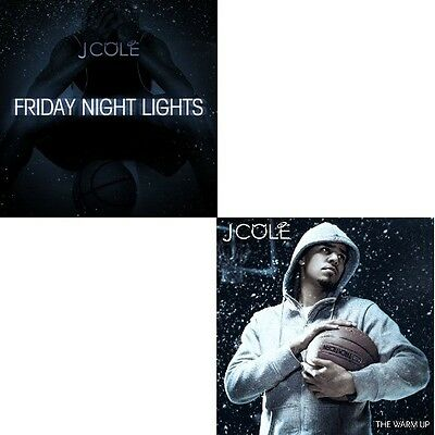 """J Cole (2) Cd- """"The Warm Up & Friday Night Lights"""" Dreamville.. Official Mix Cd"""
