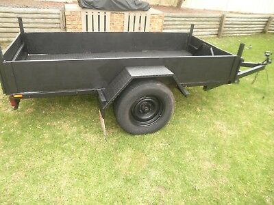 Registered Box Trailer 7x4 built by Engineered Trailers. Alloy tool box included