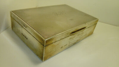 SILVER CIGARETTE BOX Hall markd 690 grams total weight
