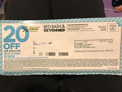 Bed Bath And Beyond 20% Off One Single Item InStore/Online Exp.2.25.19
