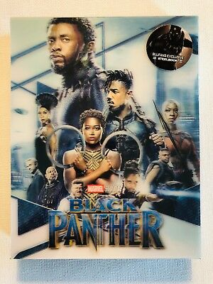 Black Panther Double Lenticular Full Slip Blu-ray Steelbook BLUFANS