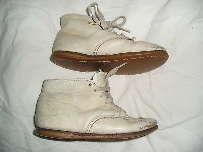 Vintage KINNEY KIDS WHITE LEATHER HIGH TOP TODDLER SHOES Sz 6.5 EE