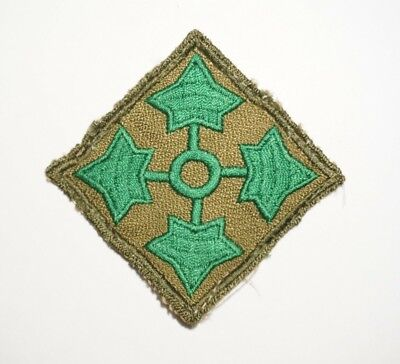 4th Infantry Division Theater Made Patch WWII US Army P8471