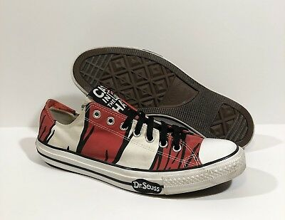 eca3aa942730 Converse Chuck Taylor All Star Low Top Cat In The Hat Dr Seuss Size 12 RARE