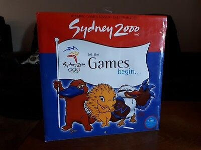 Sydney 2000 Olympic Games Mascot Calendar New unopened