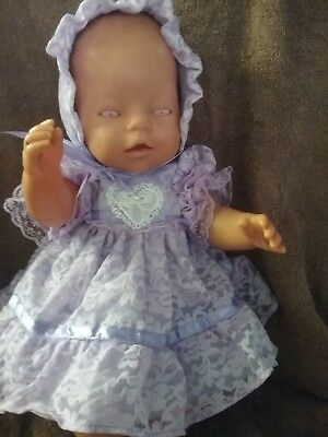 "Handmade Dolls Clothes To Fit 17"" Zaph Baby Born  Doll"