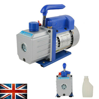 1/4HP 5Pa 2.5CFM Single-Stage Rotary Vane Vacuum Pump + Oil Bottle AC 220V 50Hz