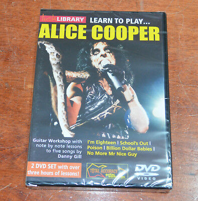 Lick Library DVD Alice Cooper I'm Eighteen School's Out Poison Billion Dollar