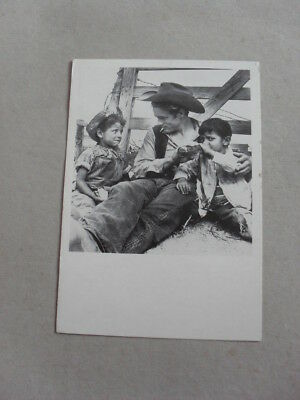 Postcard - James Dean - Cowboy - Children - Actor