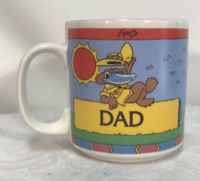 Vintage Expo 88 Ceramic Dad Cup by Crystal Craft