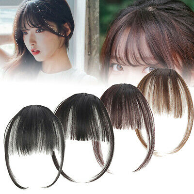 Femme Cheveux Faux Perruque Air Bangs Extension Courtla Frange Fringe clip face