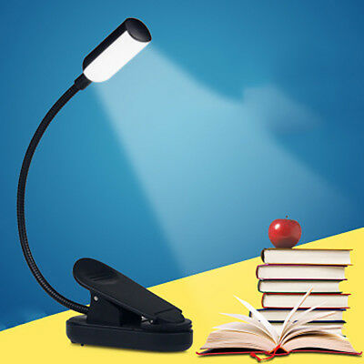 Portable USB LED Rechargeable Flexible Book Light Clip-on Reading Light Lamp
