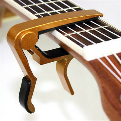 Folk Acoustic Electric Tune Guitar Capo Key Clamp Quick Change Trigger 5 colors