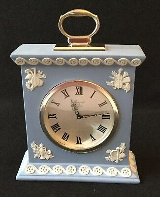 Wedgwood Blue Carriage Clock Movement By Baronet Of London