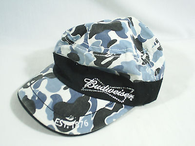 Budweiser Hat Cap Blue Camo Womens Jems Bling Embroidered Embellished