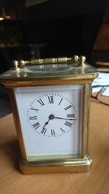 Antique Carriage Clock 8 Day Brass Working