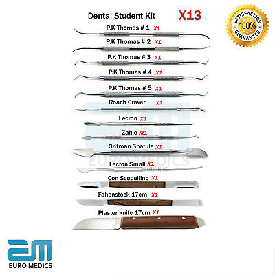 Set of 13 Dental Wax and Modelling PK Thomas Plaster Carvers Dentistry Lab tools