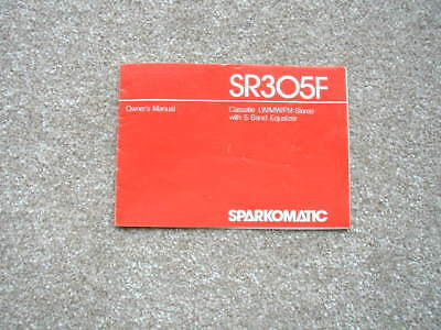 Sparkomatic Owners Manual SR305F